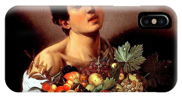 Boy With A Basket Of Fruits IPhone Case