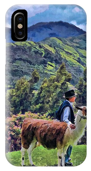 Boy With Llama  IPhone Case