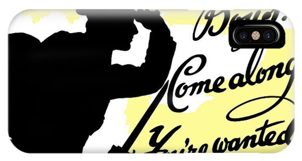 Wwi iPhone Case - Boys Come Along You're Wanted by War Is Hell Store
