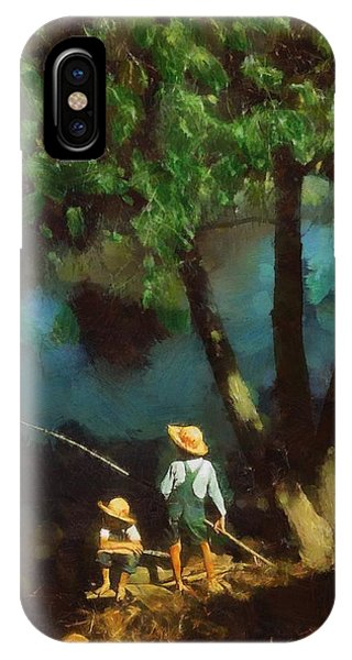Boys Fishing In A Bayou IPhone Case