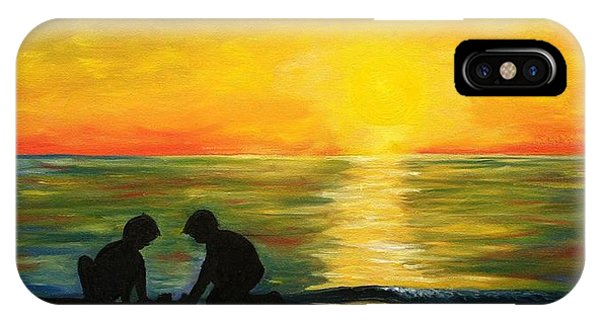 Boys In The Sunset IPhone Case