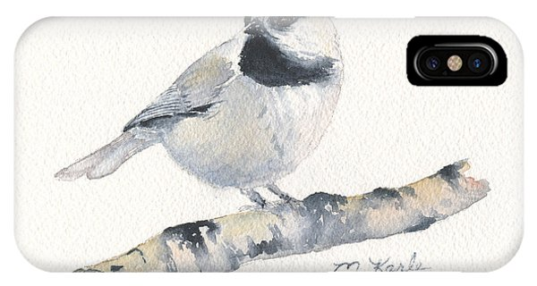 Bozeman Native - Mountain Chickadee IPhone Case