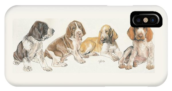 Bracco Italiano Puppies IPhone Case