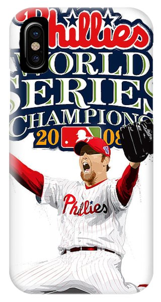 Brad Lidge Ws Champs Logo IPhone Case