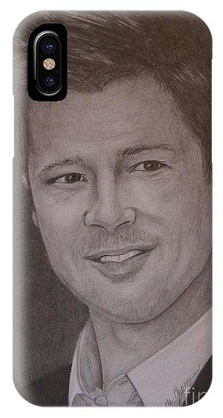 Brad Pitt Phone Case by Lorelle Gromus