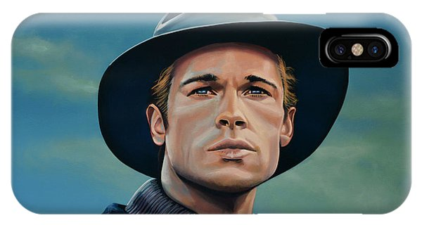 Fury iPhone Case - Brad Pitt Painting by Paul Meijering