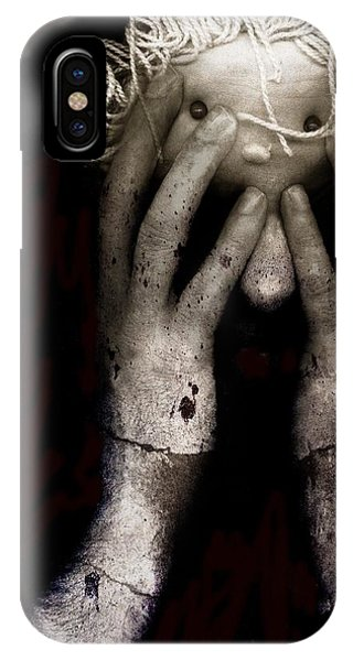 Anguish iPhone Case - Brain Fight by Johan Lilja