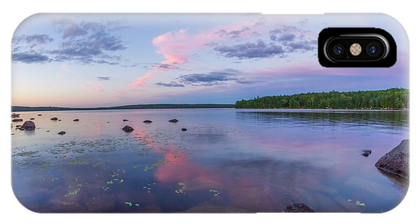 Branch Lake Mirror Sunset IPhone Case
