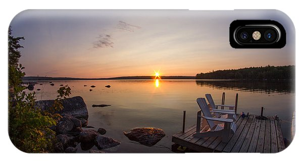 Branch Lake Sunrise In Maine IPhone Case