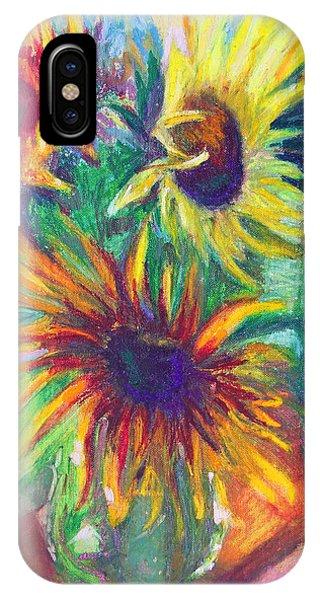 Brandy's Sunflowers - Still Life On Windowsill IPhone Case