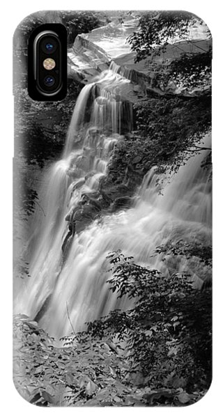 Brandywine Falls Black And White IPhone Case