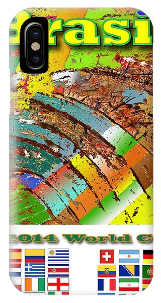 Brasil World Cup Poster Phone Case by Jorge Garza