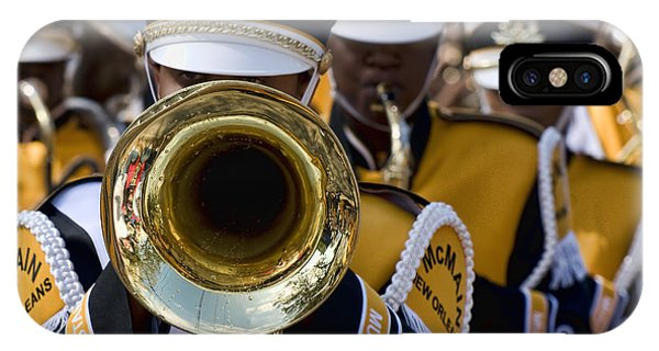 Brass Band In Mardi Gras Parade IPhone Case