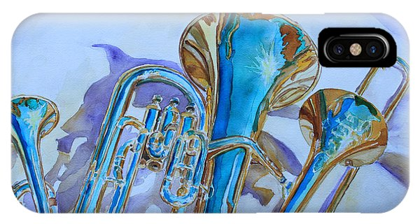 Jazz iPhone Case - Brass Candy Trio by Jenny Armitage