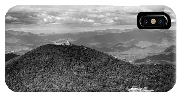Brasstown Bald In Black And White IPhone Case