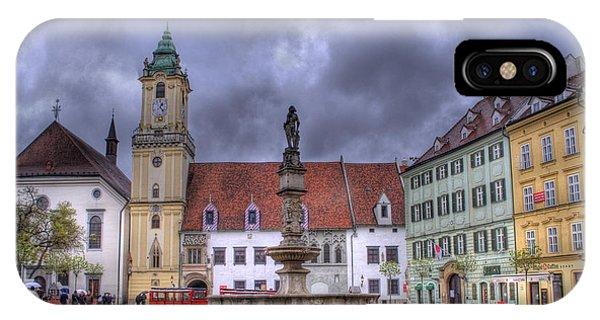 Bratislava Old Town Hall IPhone Case
