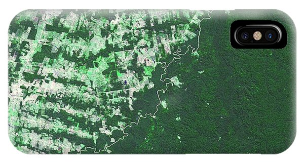 Developed iPhone Case - Brazil-bolivia Border by Nasa/gsfc/meti/ersdac/jaros, And U.s./japan Aster Science Team