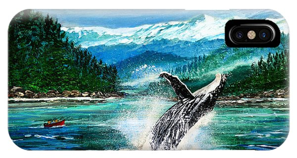 Breaching Humpback Whale IPhone Case