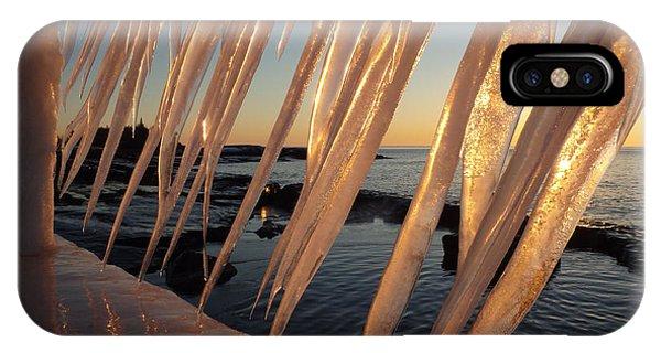 Break Wall Winter Sunrise IPhone Case