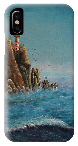 Breakers At Lighthouse Point IPhone Case