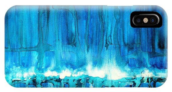 Breakers Off Point Reyes Original Painting IPhone Case