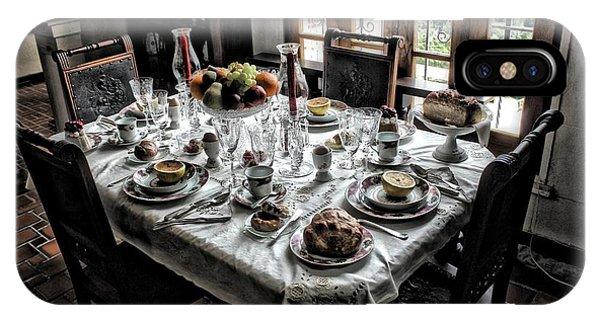 Downton Abbey Breakfast IPhone Case