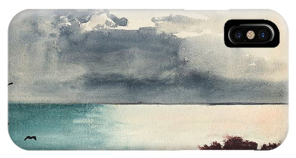 iPhone Case - Breaking Storm Coast Of Maine by Winslow Homer