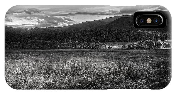 Breaking Sun In Cades Cove In Black And White IPhone Case