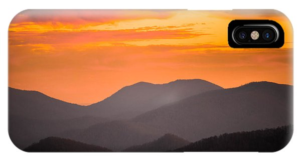 Breathtaking Blue Ridge Sunset 3 IPhone Case