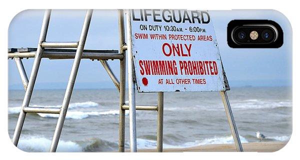 Breezy Lifeguard Chair IPhone Case