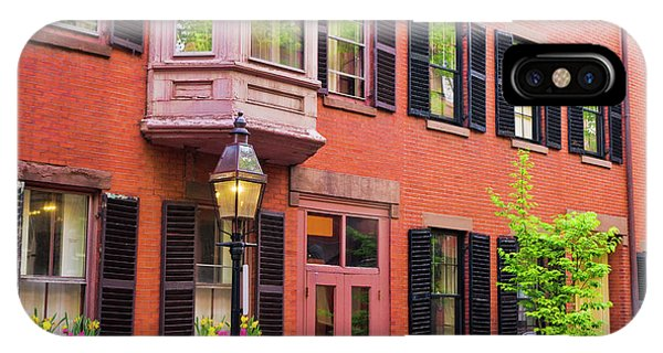 Brick Houses And Gas Street Lamp Phone Case by Russ Bishop