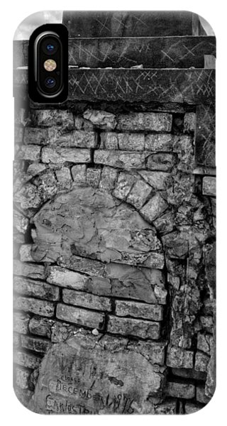 Brick Oven Grave In Black And White IPhone Case