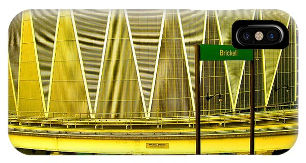 Brickell Station In Miami IPhone Case