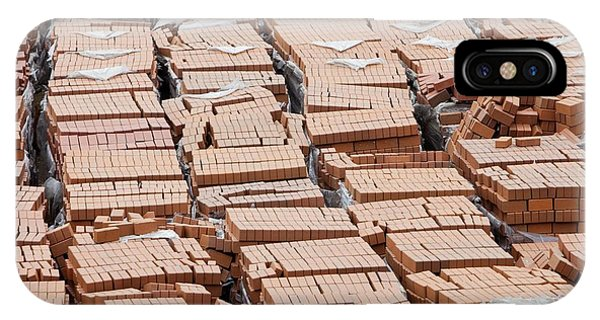 Bricks On A Building Site In Hong Kong IPhone Case