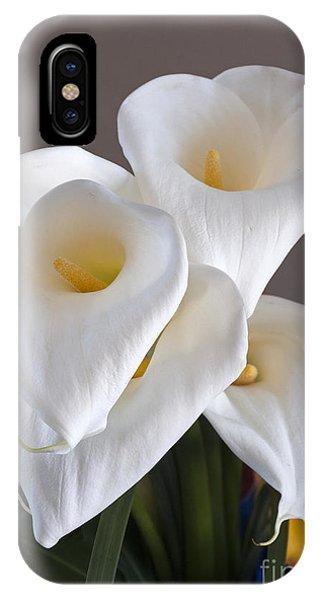 Bridal Cali Lilies IPhone Case