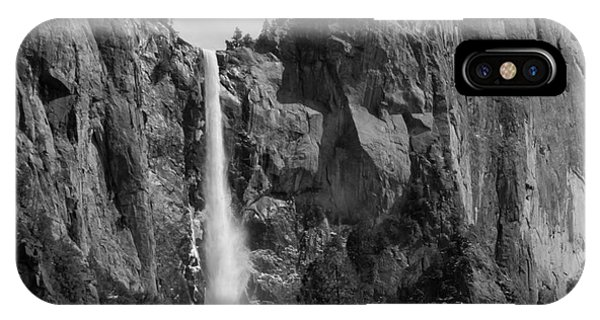 Bridal iPhone Case - Bridalveil Falls In B And W by Bill Gallagher