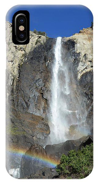 Bridalveil Falls With Rainbow IPhone Case