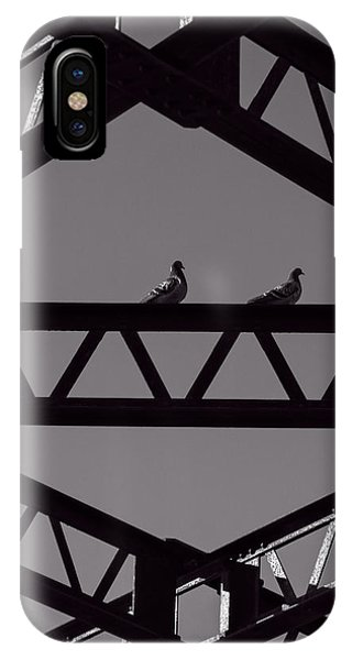Pigeon iPhone Case - Bridge Abstract by Bob Orsillo