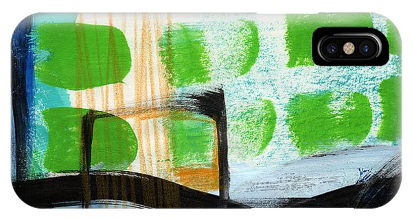 Abstract Landscape iPhone Case - Bridge- Abstract Landscape by Linda Woods