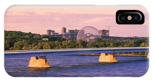 Concorde iPhone Case - Bridge Across A River With Montreal by Panoramic Images