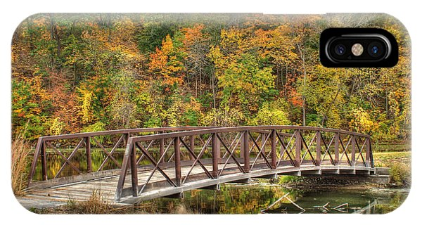 Bridge Amongst Autumn Colors IPhone Case
