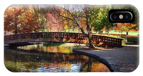 Bridge In Autumn IPhone Case