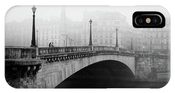 Town iPhone Case - Bridge In The Mist by Madras91