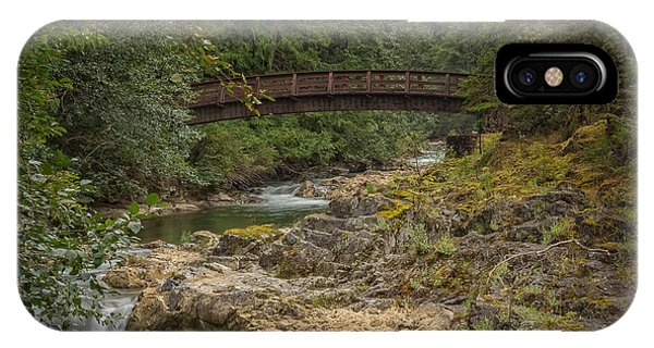 Bridge In The Woods IPhone Case