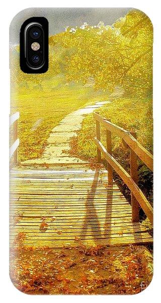 Bridge Into Autumn IPhone Case
