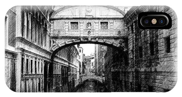 Bridge Of Sighs Pencil IPhone Case