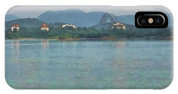 Bridge Of The Americas From Casco Viejo - Panama IPhone Case