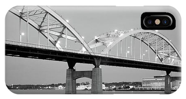 Centennial Bridge iPhone Case - Bridge Over A River, Centennial Bridge by Panoramic Images