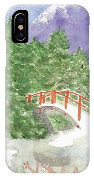 Bridge Over Frozen Water IPhone Case