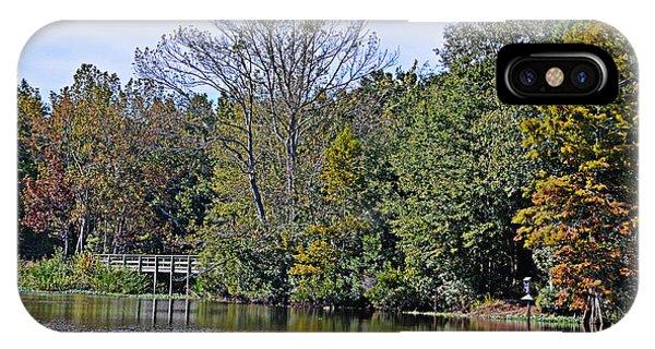 Bridge Over Placid Waters IPhone Case